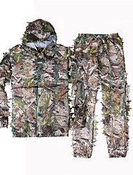 Per uomo Per donna Unisex Manica lunga Giacca e pantaloni da caccia 3D Camouflage Set di vestiti per Caccia M L XL XXL
