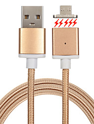 USB 2.0 Braided Magnetic Cable For Samsung Huawei Sony Nokia HTC Motorola LG Lenovo Xiaomi cm Metal Nylon