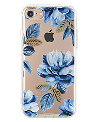 Per iPhone X iPhone 8 iPhone 7 iPhone 7 Plus iPhone 6 Custodie cover Ultra sottile Fantasia/disegno Custodia posteriore Custodia Fiore