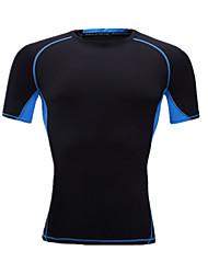 Unisex T-shirt da corsa Manica corta Traspirante Comodo T-shirt Top per Esercizi di fitness Corsa LYCRA® Taglia piccola M L XL XXL XXXL
