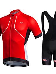 cheap -Fastcute Cycling Jersey with Bib Shorts Men's Short Sleeves Bike Bib Shorts Bib Tights Jacket Shorts Shirt Sweatshirt Jersey Top Clothing