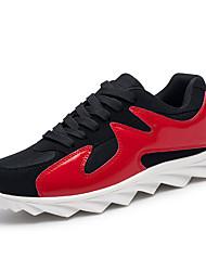 Homme-Extérieure Décontracté-Noir et Or Noir rouge Noir blanc-Talon Plat-Confort-Chaussures d'Athlétisme-Polyuréthane