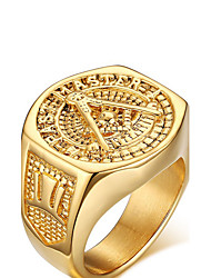 cheap -Men's Statement Ring - Gold Plated Love Personalized 9 / 10 / 11 Golden For Wedding / Party / Anniversary