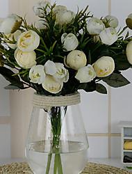 abordables -1 Une succursale Autres Roses Fleur de Table Fleurs artificielles 14*14*30