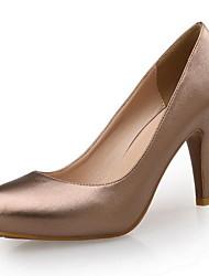 Da donna-Tacchi-Ufficio e lavoro Formale Serata e festa-Club Shoes-A stiletto-Di pelle Microfibra-Champagne