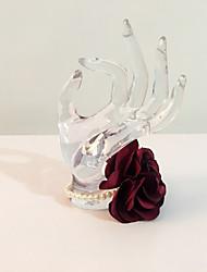 """baratos -Bouquets de Noiva Buquê de Pulso Casamento Festa / Noite Strass Cetim 6.69""""(Aprox.17cm)"""