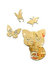 Animais Espelhos Moda Adesivos de Parede Autocolantes 3D para Parede Autocolantes de Parede Espelho Autocolantes de Parede Decorativos,