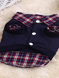 Chat Chien Sweatshirt Vêtements pour Chien Mignon Sportif Tartan Arc-en-ciel Costume Pour les animaux domestiques