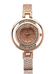 baratos -Homens Relógio de Pulso Venda imperdível Lega Banda Amuleto / Fashion / Relógio simulado de diamantes Prata / Dourada / Ouro Rose / Um ano / ETA 377A