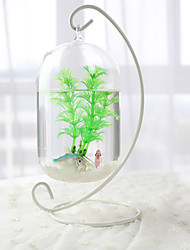 cheap -Mini Aquariums Ornament Glass Metal