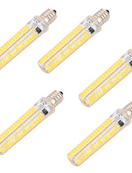 8W E14 E17 E11 LED Corn Lights T 136 leds SMD 5730 Dimmable Decorative Warm White Cold White 750lm 2700-3200   6000-6500K AC 220-240 AC
