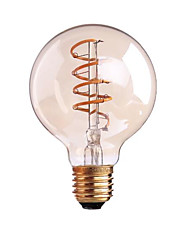 4W B22 E26/E27 LED Filament Bulbs G80 1 leds COB Dimmable Warm White 400lm 2700-3500K AC 220-240 AC 110-130V