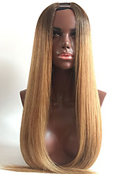 8 To 26 Inch Cheap Real Remy Indian Virgin Human Hair Blonde Ombre Silky Straight Short Bleached Knots Lace Frontal U Part Wig Human Hair Bliss Wigs