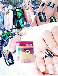 cheap -10pcs/set Nail Art Sticker  Water Transfer Sticker Glitter & Poudre 3D Nail Stickers Makeup Cosmetic Nail Art Design