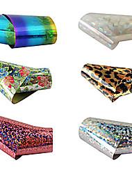 1pcs laser folie negle dekorationer stjerneklar klistermærker No.7-12 (120x4x0.1cm, assorterede farver)