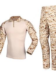 Недорогие -Куртка и брюки для охоты Муж. Жен. Универсальные Тактический камуфляж Наборы одежды Длинный рукав для Охота
