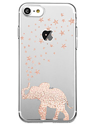 Per iPhone X iPhone 8 Custodie cover Ultra sottile Transparente Custodia posteriore Custodia Elefante Morbido TPU per Apple iPhone X