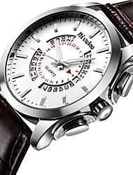 Pánské Módní hodinky Náramkové hodinky Křemenný Nerez Kapela Cool Běžné nošení Luxusní Černá Stříbro Hnědá