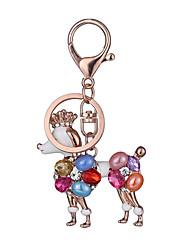 cheap -Key Chain Toys Key Chain Dog Metal Creative Chic & Modern 1 Pieces Boys' Girls' Christmas Birthday Valentine's Day Gift