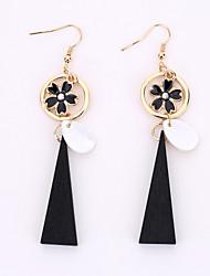 European And American Fashion Shells Ms Fashion Flower Earrings National Wind Tassels Eardrop By Hand