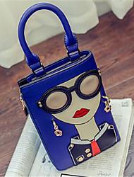 preiswerte -Damen Taschen PU Umhängetasche für Draussen Ganzjährig Blau Weiß Rote