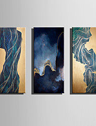 E-HOME Oil painting Modern The Infinite Fantasy of Line Pure Hand Draw Frameless Decorative Painting
