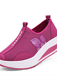 Women's Athletic Shoes Spring Summer Light Soles PU Outdoor Casual  Black Gray Rose Pink