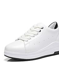 Sneakers-Kunstlæder-Rullebræt Komfort Lysende såler-DamerUdendørs Kontor Fritid-Kilehæl Platå Creepers