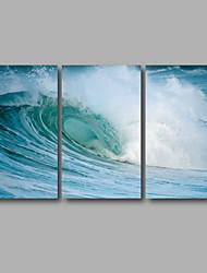 Estampados de Lonas Esticada Abstrato Moderno,3 Painéis Tela Horizontal Impressão artística Decoração de Parede For Decoração para casa