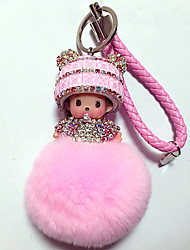 cheap -Doll Key Chain Toys Diamond Toys Crystal Cartoon Lovely 1 Pieces Boys' Girls' Christmas Carnival New Year Gift