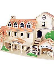 Jigsaw Puzzles Wooden Puzzles Building Blocks DIY Toys Nano Pavilion 1 Wood Ivory Model & Building Toy