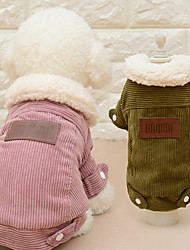 cheap -Cat Dog Coat Dog Clothes Casual/Daily Fashion Solid Coffee Pink Costume For Pets