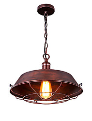 cheap -1 Lights Industrial Pendant Light Retro Edison Rustic Chandelier Iron Hanging Warehouse Barn Ceiling Pendant Lighting