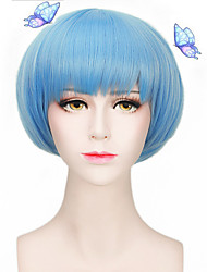 Light Blue Lolita Lovely Natural Cheap Heat Resistant Party Cosplay Wigs Short Capless Hair