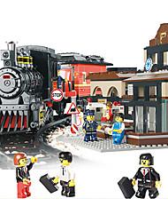 Недорогие -AUSINI Конструкторы 526 pcs Шлейф Cool Оригинальные Электрический Поезд Поезда и наборы железной дороги Мальчики Игрушки Подарок