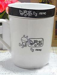 Zeichentrick Party Trinkbecher, 250 ml Wärmeisoliert Ergonomisches Design Keramik Kaffee Milch Neuheiten bei Tassen und Gläsern