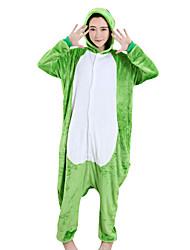 Kigurumi Pigiami Rana Feste/vacanze Pigiama a fantasia animaletto Halloween Verde Collage Visone velluto Kigurumi Per Uomo Donna Unisex