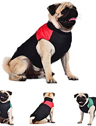 cheap -Cat Dog Coat Vest Dog Clothes Keep Warm Color Block Red Green Blue Costume For Pets