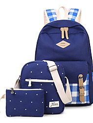 Women Bags All Seasons Canvas Backpack for Shopping Casual Sports Outdoor Green Black Red Dark Blue Pale Blue
