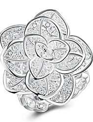 preiswerte -Ringe Party Alltag Normal Schmuck Kupfer versilbert Ring 1 Stück,8 Silber