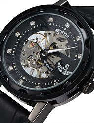 Недорогие -Муж. Спортивные часы Нарядные часы Часы со скелетом Модные часы Наручные часы Механические часы С автоподзаводом Натуральная кожа Группа