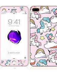 pour apple iphone 7 4.7 verre trempé avec protecteur bord doux de l'écran avant de la couverture complète de l'écran et protection dorsale