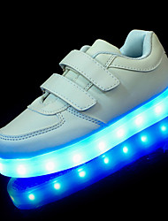 cheap -Boys' Shoes Leatherette Spring First Walkers / Light Up Shoes Sneakers Hook & Loop / LED for White / Black