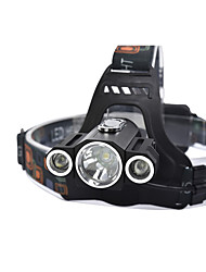 Headlamps Headlight - lm 4 Mode Cree T6 with Batteries and Charger 360° Rotation Night Vision Dimmable Camping/Hiking/Caving Hunting