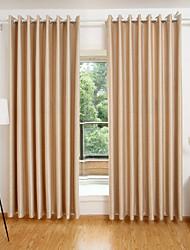 Tringle oeillets Onglet supérieur Plis double Deux Panneaux Le traitement de fenêtre Moderne , Relief Géométrique Salle de séjour