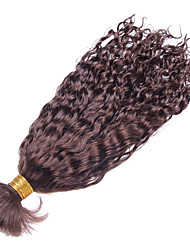 cheap -1 Bundle Peruvian Hair Curly / Curly Weave Human Hair Bundle Hair Human Hair Weaves Human Hair Extensions