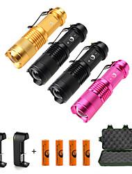 U'King Torce LED Kit per torce LED 1500 Lumens 3 Modo Cree XP-E R2 Sì Messa a fuoco regolabile per Campeggio/Escursionismo/Speleologia