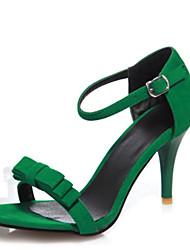 Da donna-Sandali-Ufficio e lavoro Formale Casual-Club Shoes-A stiletto-Velluto-Nero Verde Viola