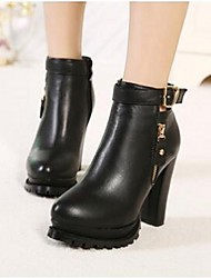 2016 autumn new European and American fashion Duantong Martin boots thick with high-heeled leisure side zipper boots tide wild