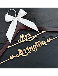 Personalized Wedding Hanger Custom Bridal Hanger Cherry Hanger with Natural Wood Name